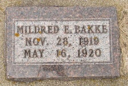 BAKKE, MILDRED E. - Nelson County, North Dakota | MILDRED E. BAKKE - North Dakota Gravestone Photos