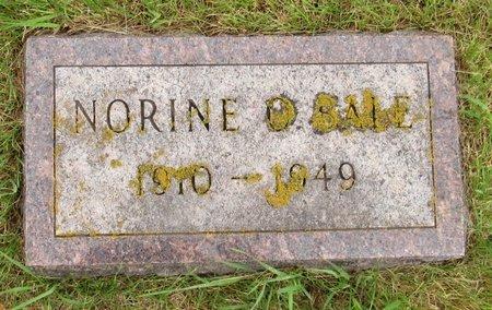 BALE, NORINE O. - Nelson County, North Dakota   NORINE O. BALE - North Dakota Gravestone Photos