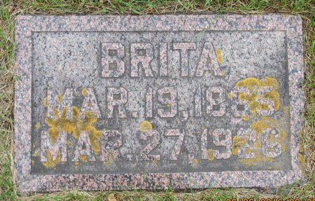 BARSNESS, BRITA - Nelson County, North Dakota | BRITA BARSNESS - North Dakota Gravestone Photos