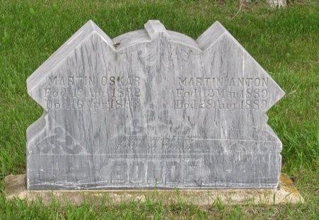 BONDE, MARTIN ANTON - Nelson County, North Dakota | MARTIN ANTON BONDE - North Dakota Gravestone Photos