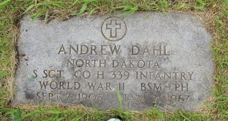 DAHL, ANDREW - Nelson County, North Dakota   ANDREW DAHL - North Dakota Gravestone Photos