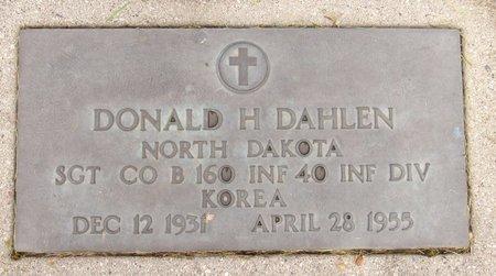 DAHLEN, DONALD H. - Nelson County, North Dakota   DONALD H. DAHLEN - North Dakota Gravestone Photos
