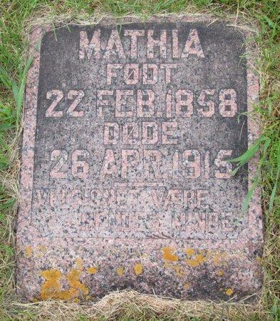 DOCKEN, MATHIA - Nelson County, North Dakota   MATHIA DOCKEN - North Dakota Gravestone Photos