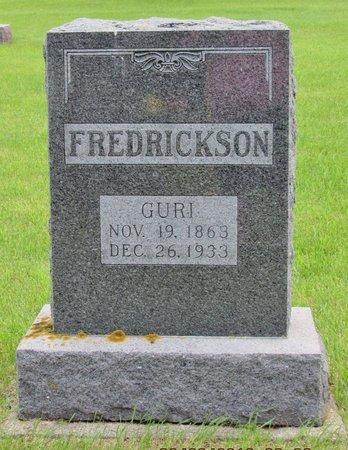 FREDRICKSON, GURI - Nelson County, North Dakota   GURI FREDRICKSON - North Dakota Gravestone Photos