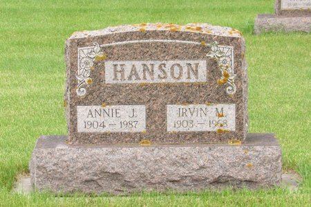 HANSON, ANNIE J. - Nelson County, North Dakota | ANNIE J. HANSON - North Dakota Gravestone Photos