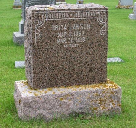 HANSON, BRITA - Nelson County, North Dakota | BRITA HANSON - North Dakota Gravestone Photos