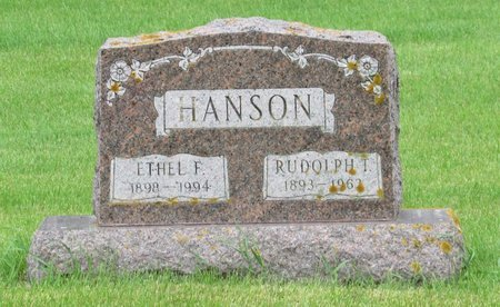 HANSON, RUDOLPH T. - Nelson County, North Dakota | RUDOLPH T. HANSON - North Dakota Gravestone Photos