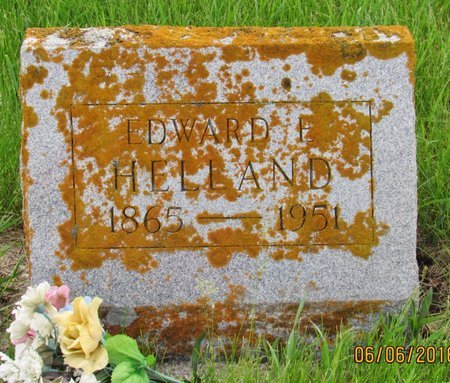 HELLAND, EDWARD E. - Nelson County, North Dakota | EDWARD E. HELLAND - North Dakota Gravestone Photos