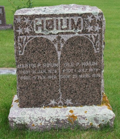 HOIUM, OLE P. - Nelson County, North Dakota | OLE P. HOIUM - North Dakota Gravestone Photos