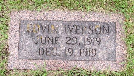 IVERSON, EDVIN - Nelson County, North Dakota   EDVIN IVERSON - North Dakota Gravestone Photos