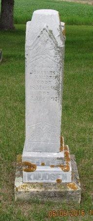 KNUDSEN, JOHANNES - Nelson County, North Dakota   JOHANNES KNUDSEN - North Dakota Gravestone Photos