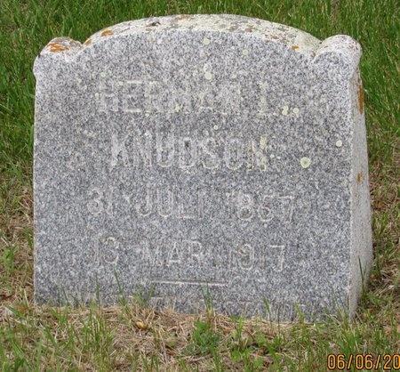 KNUDSON, HERMAN L. - Nelson County, North Dakota   HERMAN L. KNUDSON - North Dakota Gravestone Photos