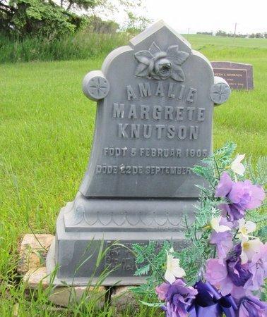 KNUTSON, AMALIE MARGRETE - Nelson County, North Dakota | AMALIE MARGRETE KNUTSON - North Dakota Gravestone Photos