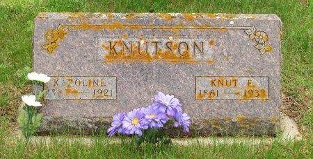 KNUTSON, KAROLINE - Nelson County, North Dakota | KAROLINE KNUTSON - North Dakota Gravestone Photos