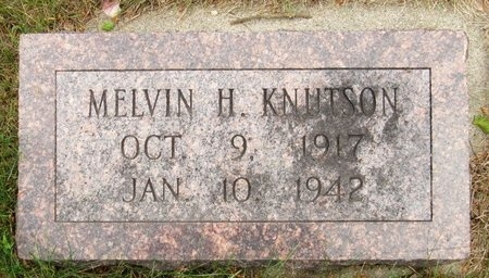 KNUTSON, MELVIN H. - Nelson County, North Dakota | MELVIN H. KNUTSON - North Dakota Gravestone Photos