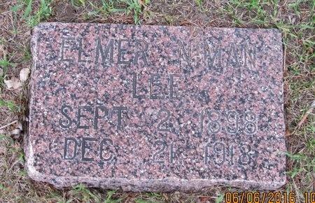 LEE, ELMER NIMAN - Nelson County, North Dakota | ELMER NIMAN LEE - North Dakota Gravestone Photos