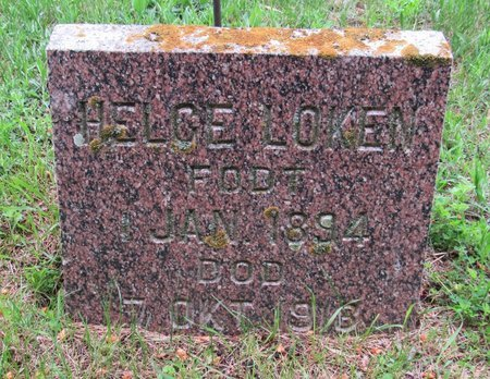 LOKEN, HELGE - Nelson County, North Dakota   HELGE LOKEN - North Dakota Gravestone Photos