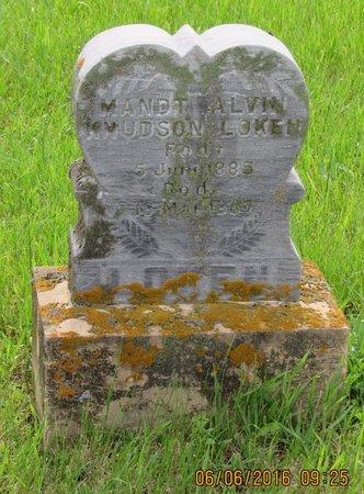 LOKEN, MANDT ALVIN KNUDSON - Nelson County, North Dakota | MANDT ALVIN KNUDSON LOKEN - North Dakota Gravestone Photos