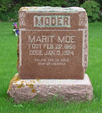 MOE, MARIT - Nelson County, North Dakota | MARIT MOE - North Dakota Gravestone Photos