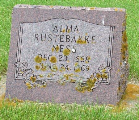NESS, ALMA - Nelson County, North Dakota   ALMA NESS - North Dakota Gravestone Photos