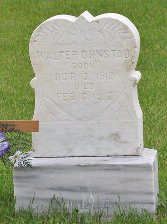 OHNSTAD, WALTER - Nelson County, North Dakota   WALTER OHNSTAD - North Dakota Gravestone Photos