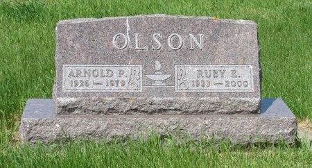 OLSON, ARNOLD P. - Nelson County, North Dakota | ARNOLD P. OLSON - North Dakota Gravestone Photos