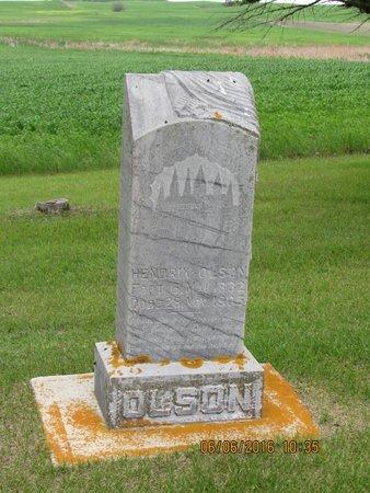 OLSON, HENDRIK - Nelson County, North Dakota | HENDRIK OLSON - North Dakota Gravestone Photos