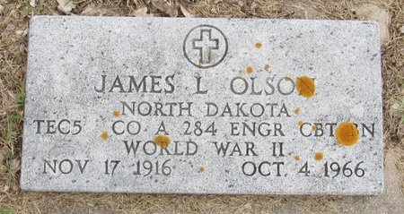 OLSON, JAMES L. - Nelson County, North Dakota | JAMES L. OLSON - North Dakota Gravestone Photos