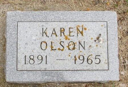 OLSON, KAREN - Nelson County, North Dakota | KAREN OLSON - North Dakota Gravestone Photos