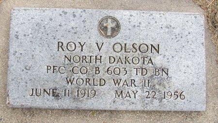 OLSON, ROY V. - Nelson County, North Dakota | ROY V. OLSON - North Dakota Gravestone Photos