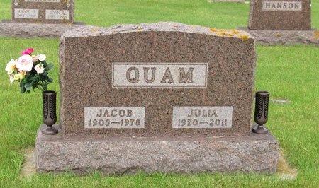 QUAM, JULIA - Nelson County, North Dakota   JULIA QUAM - North Dakota Gravestone Photos