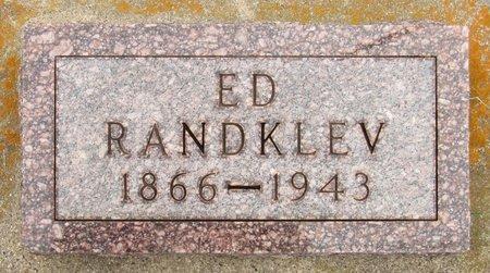 RANDKLEV, ED - Nelson County, North Dakota | ED RANDKLEV - North Dakota Gravestone Photos