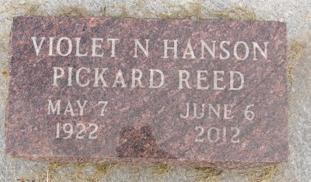 HANSON REED, VIOLET N. - Nelson County, North Dakota | VIOLET N. HANSON REED - North Dakota Gravestone Photos