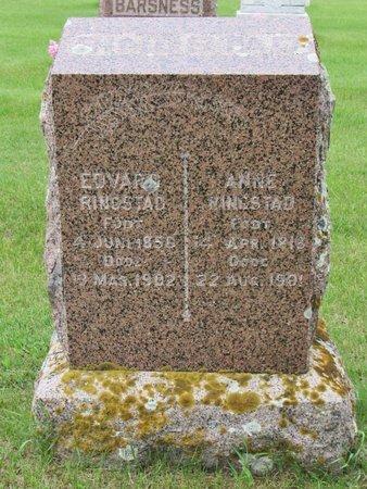 RINGSTAD, EDVARD - Nelson County, North Dakota | EDVARD RINGSTAD - North Dakota Gravestone Photos