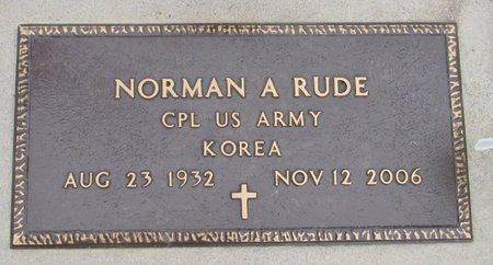 RUDE, NORMAN A. - Nelson County, North Dakota | NORMAN A. RUDE - North Dakota Gravestone Photos