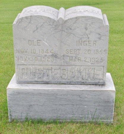 RUSTEBAKKE, INGER - Nelson County, North Dakota   INGER RUSTEBAKKE - North Dakota Gravestone Photos
