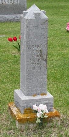 RUUD, ALBERT O. - Nelson County, North Dakota   ALBERT O. RUUD - North Dakota Gravestone Photos