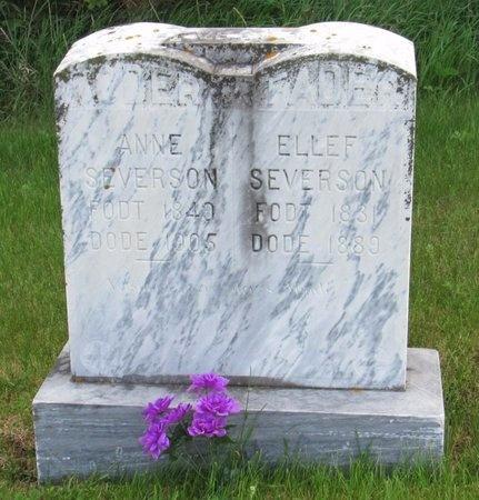 SEVERSON, ELLEF - Nelson County, North Dakota | ELLEF SEVERSON - North Dakota Gravestone Photos