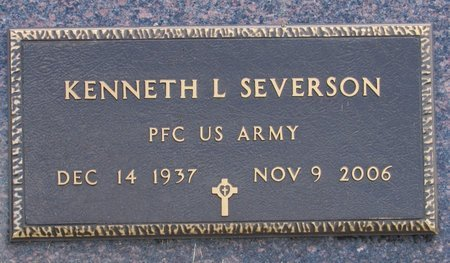 SEVERSON, KENNETH L. - Nelson County, North Dakota | KENNETH L. SEVERSON - North Dakota Gravestone Photos