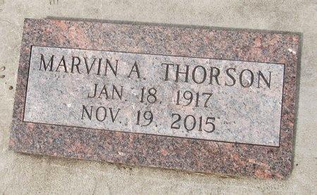 THORSON, MARVIN A. - Nelson County, North Dakota   MARVIN A. THORSON - North Dakota Gravestone Photos