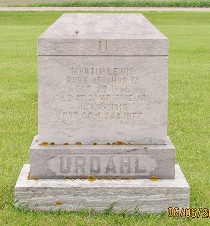 URDAHL, MARTIN LEWIS - Nelson County, North Dakota   MARTIN LEWIS URDAHL - North Dakota Gravestone Photos