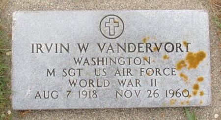 VANDERVORT, IRVIN W. - Nelson County, North Dakota | IRVIN W. VANDERVORT - North Dakota Gravestone Photos