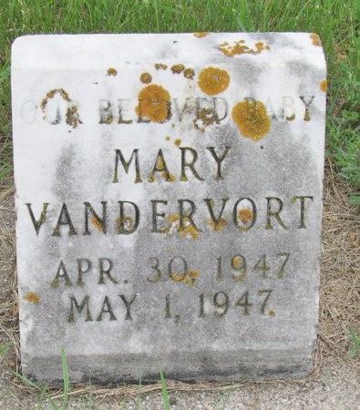 VANDERVORT, MARY - Nelson County, North Dakota | MARY VANDERVORT - North Dakota Gravestone Photos