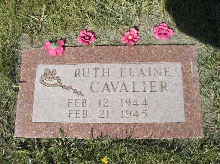 CAVALIER, RUTH ELAINE - Pembina County, North Dakota | RUTH ELAINE CAVALIER - North Dakota Gravestone Photos