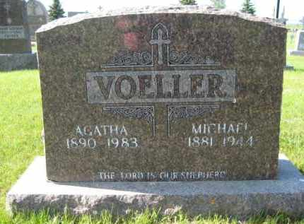 VOELLER, AGATHA - Pierce County, North Dakota | AGATHA VOELLER - North Dakota Gravestone Photos
