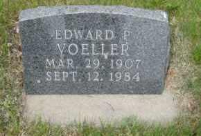 VOELLER, EDWARD P - Pierce County, North Dakota   EDWARD P VOELLER - North Dakota Gravestone Photos