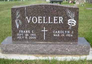 VOELLER, FRANK I - Pierce County, North Dakota   FRANK I VOELLER - North Dakota Gravestone Photos