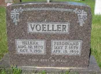 VOELLER, FERDINAND A - Pierce County, North Dakota | FERDINAND A VOELLER - North Dakota Gravestone Photos