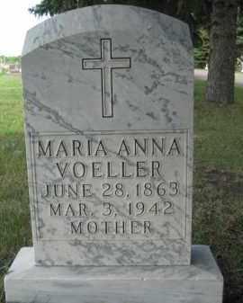 VOELLER, MARIA ANNA - Pierce County, North Dakota | MARIA ANNA VOELLER - North Dakota Gravestone Photos