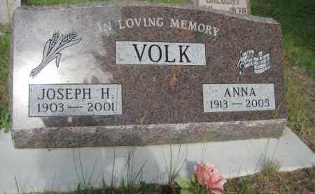 VOLK, ANNA - Pierce County, North Dakota | ANNA VOLK - North Dakota Gravestone Photos